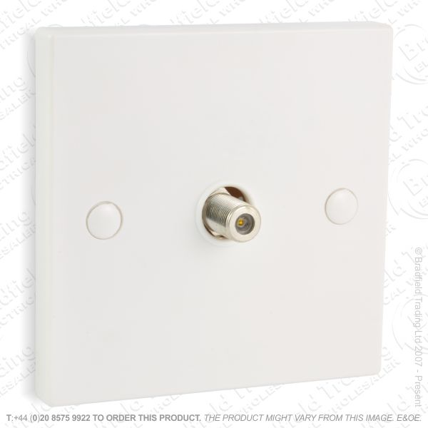 I30) Socket Satellite Flush 1G white
