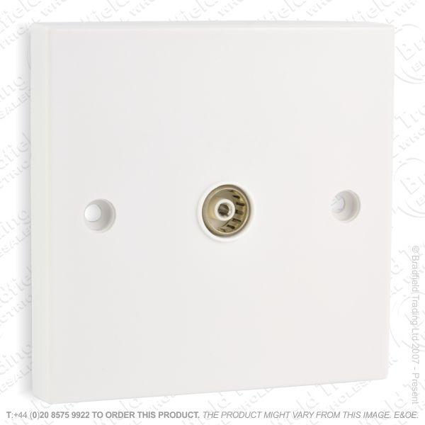 I30) Socket TV Flush 1G white B34P