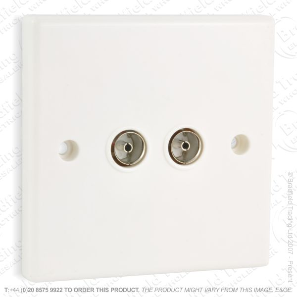 I30) Socket TV Flush 2G white