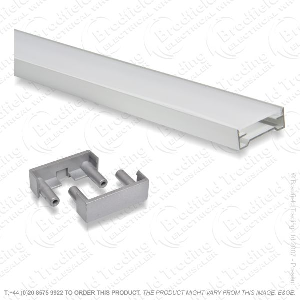 B36) LED Surface U Profile 2M Alum