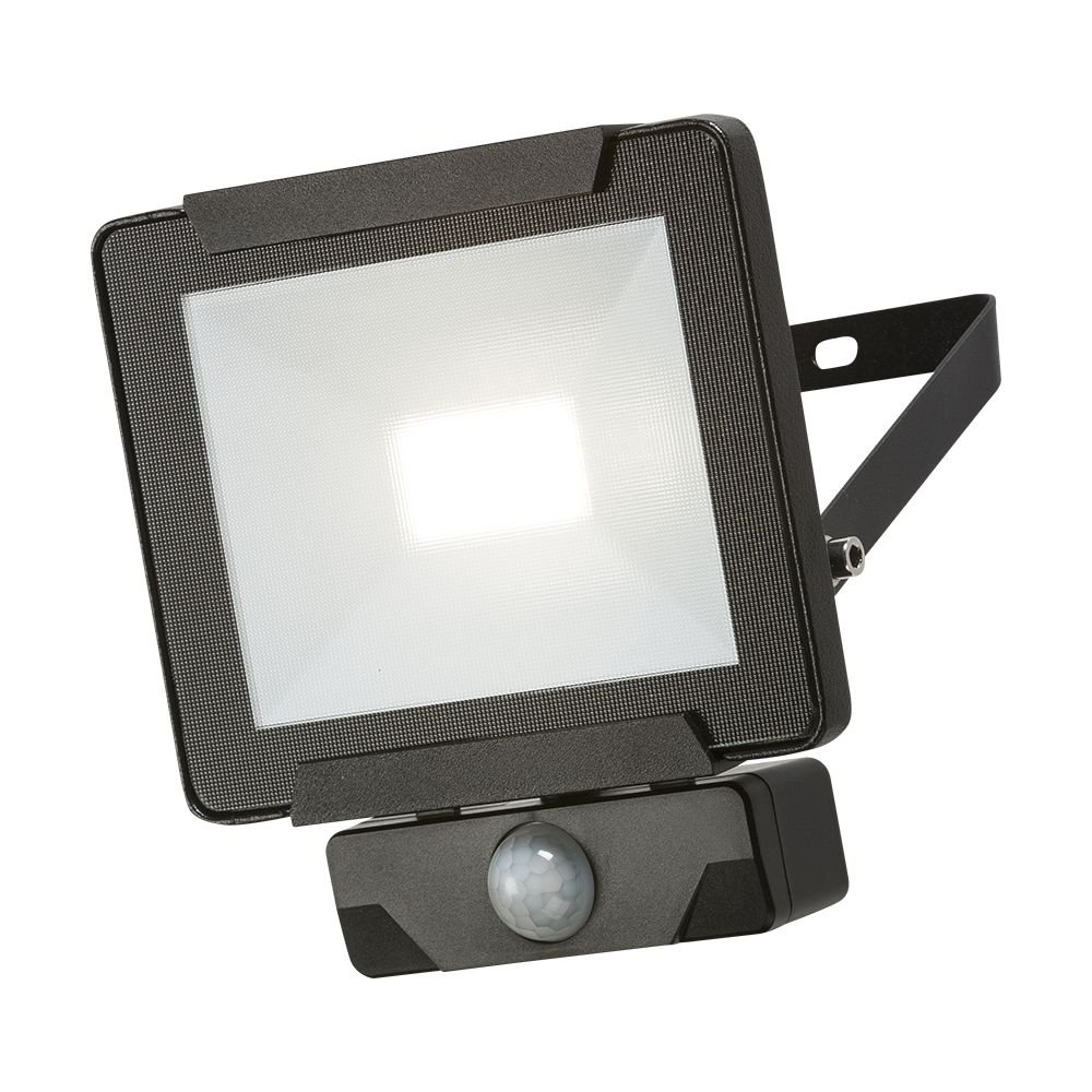 Black LED PIR Floodlight 20W IP65 KNISBRIDGE