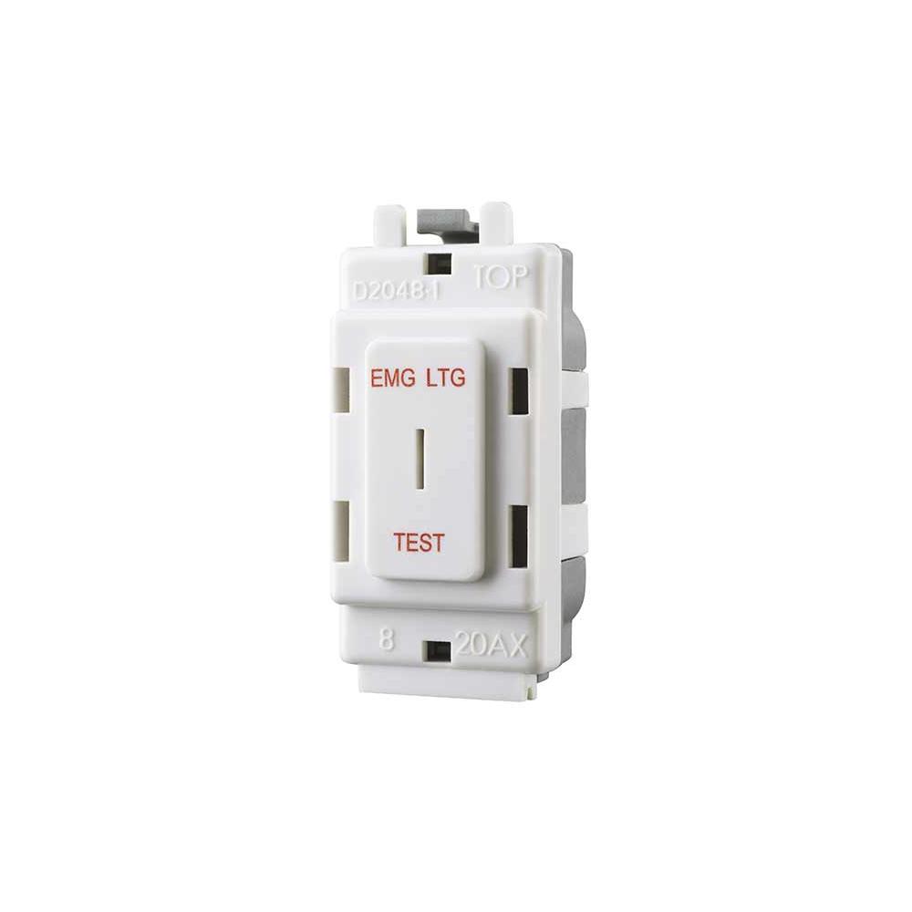 Grid Switch 20A 2W SP Emerg Key NEXUS BG