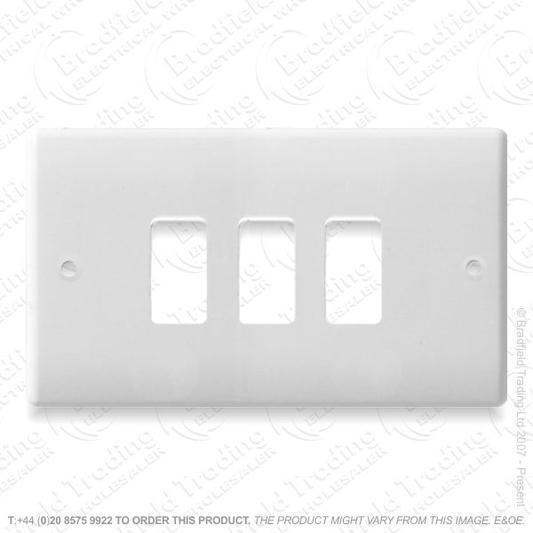 Grid Front Plate 3gang NEXUS BG