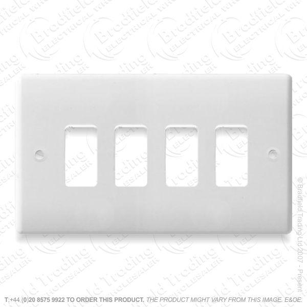 Grid Front Plate 4gang NEXUS BG