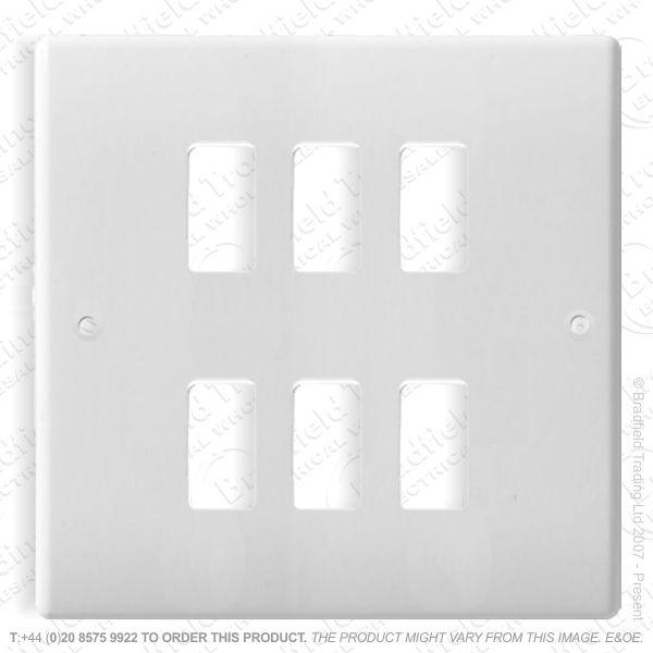 Grid Front Plate 6gang NEXUS BG