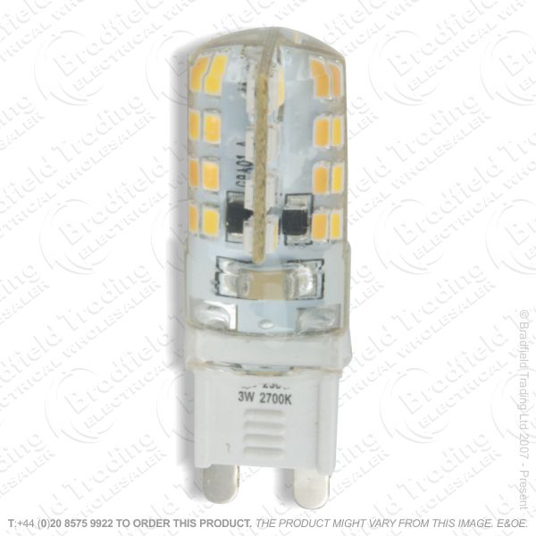 A47) 4W G9 Cap Bulb WW LED 27k 250lm Dim KNI