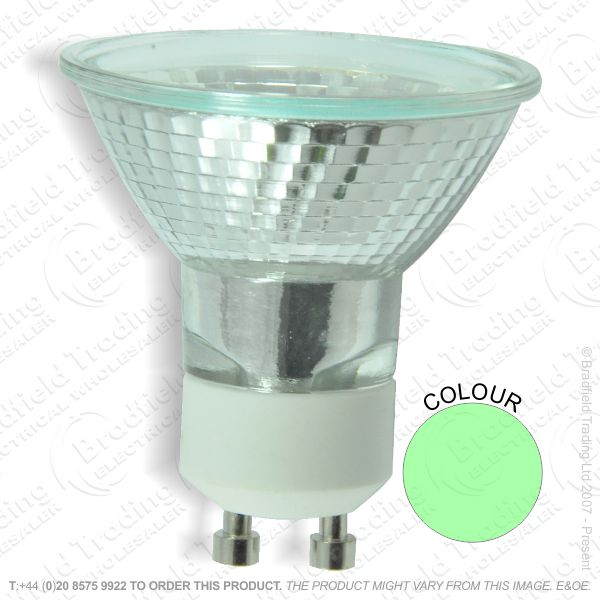 A58) PAR16 GU10 50W wideflood green BEL