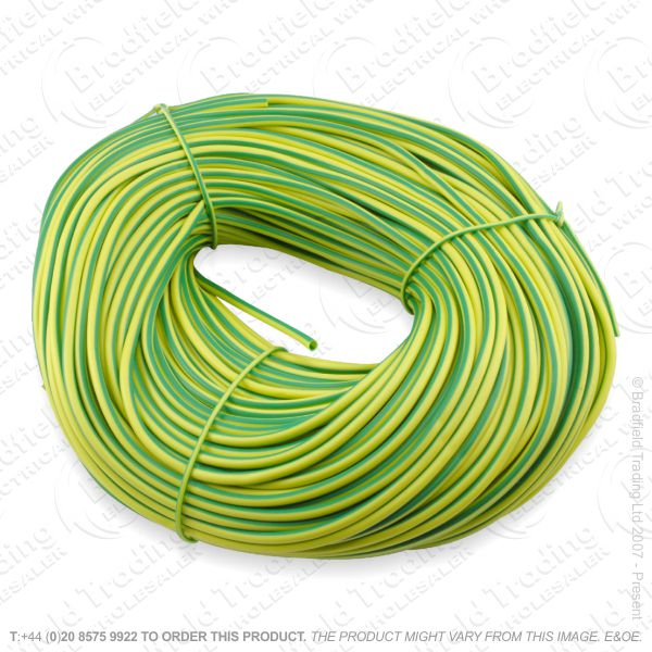 H04) Sleeving green/yellow 2mm 100M