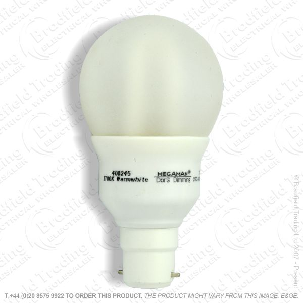 A16) GLS Spiral BC 9W low energy PRO