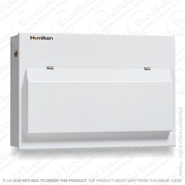 Consumer Unit RCD Metal 10w Populated HA
