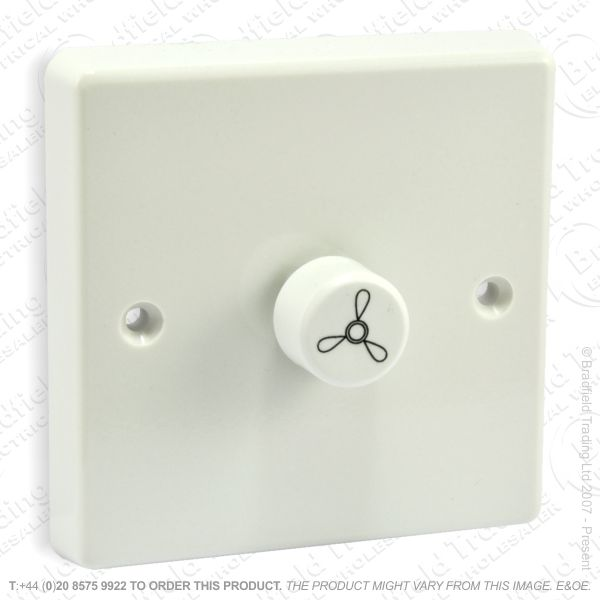 I27) Fan Rotary Dimmer 250w white