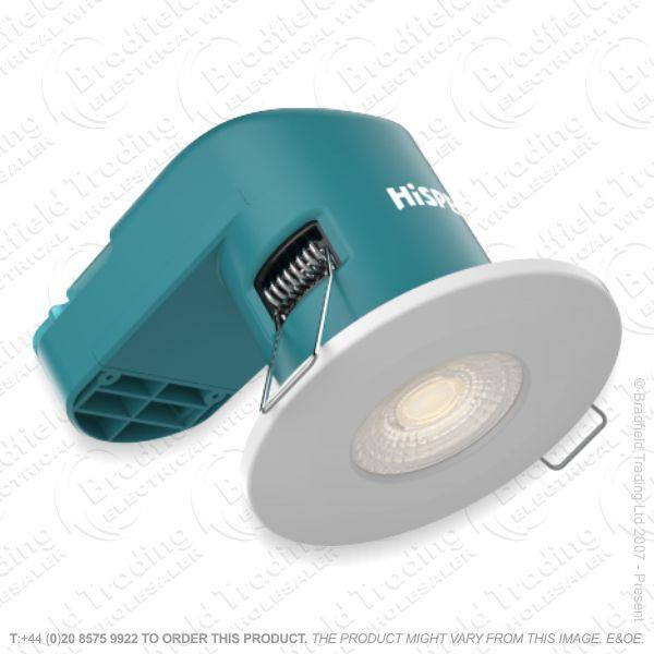 Downlight LED 6W 3k 540lm White Dimm IP65