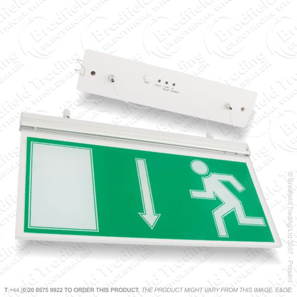 B18) LED Exit Sign Light Suspended