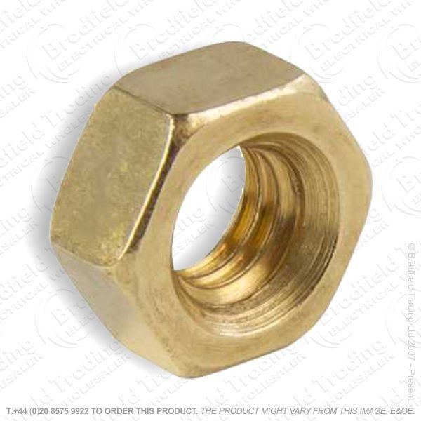 M6 Hex Full Nut Brass