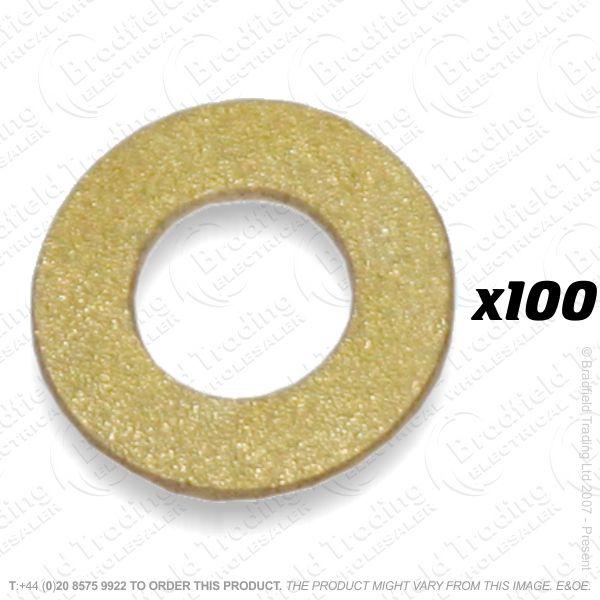 M4 Washer Brass 100pc
