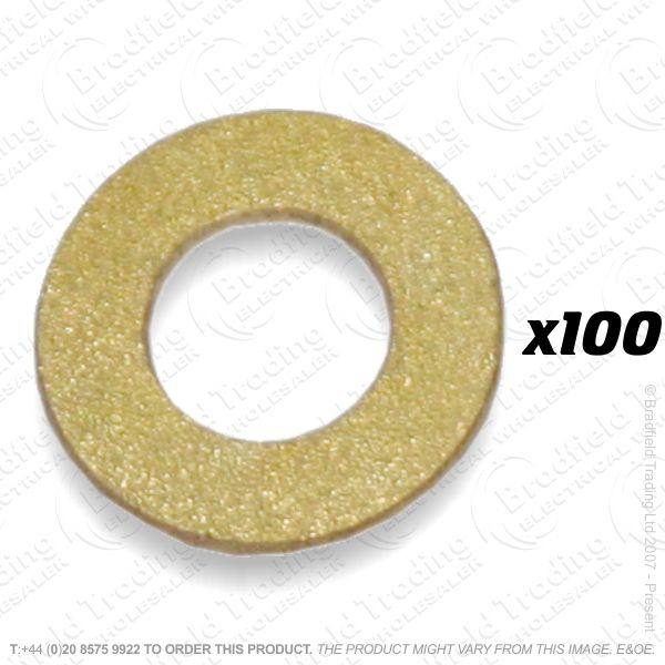 M6 Washer Brass 100pc