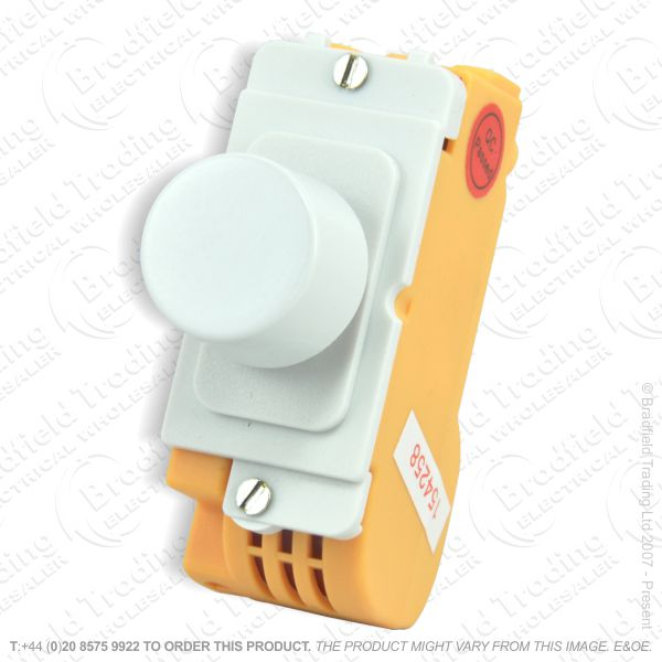 I45) Grid Dimmer Push On/Off 6A 2w White IDPS
