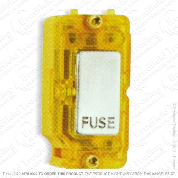 I45) Grid Fuse SatinStainless RedNeon