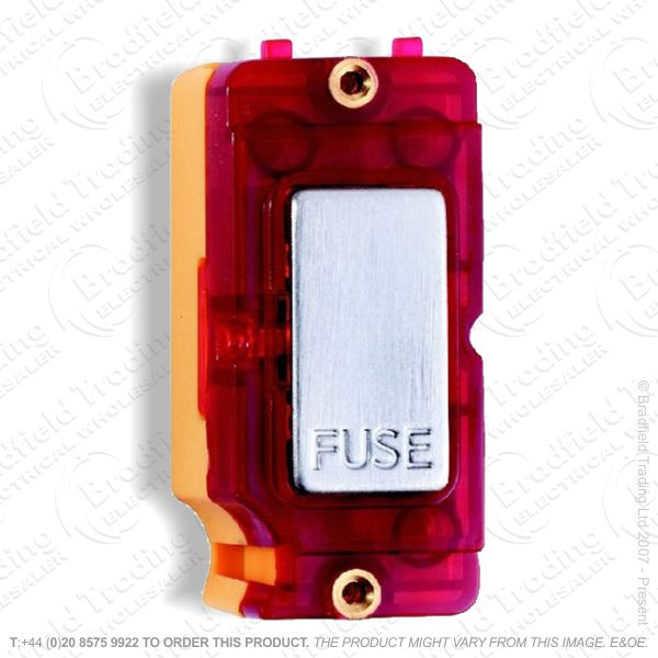 Grid Fuse Spur Satin Chrome Red Neon