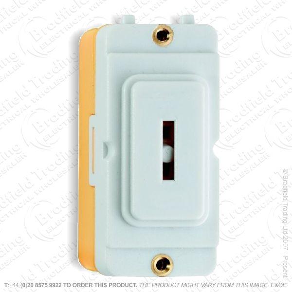 Key Switch Grid Module 20A 2w White Hamilton