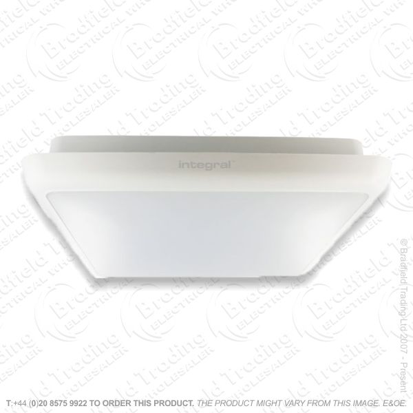 LED 12W Bulkhead Slim Square IP54 Eme