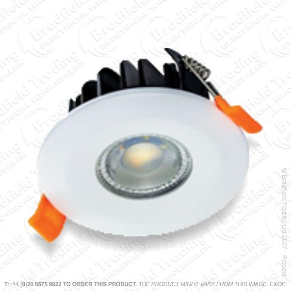 Downlight LED 6W 22-3k 36* Dim 450lm IP65 Wh