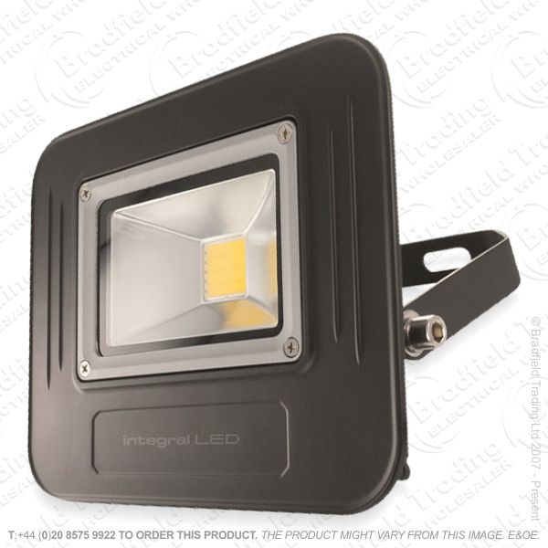 Black LED Floodlight 30W IP67 Super Slim