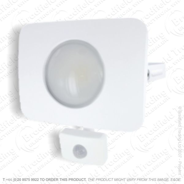 White LED PIR Floodlight 30W IP65 INTRG