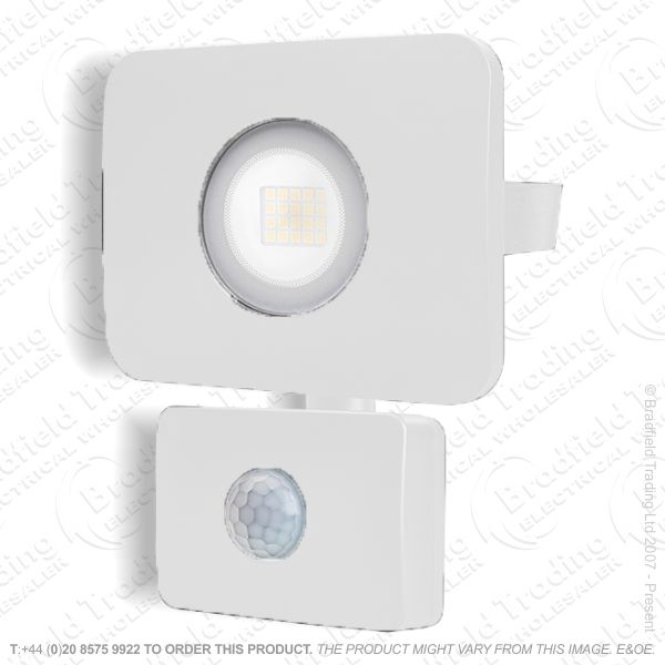 White LED PIR Floodlight 20W IP65 INTRG