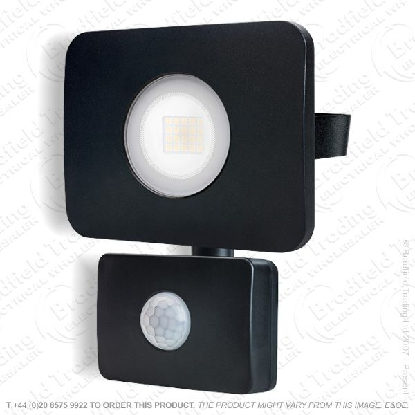 Black LED PIR Floodlight 20W IP65 INTRG