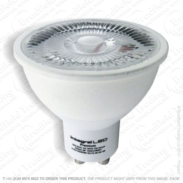 A37) LED 7W GU10 27K Warm 380lm Dim CRI95 IN