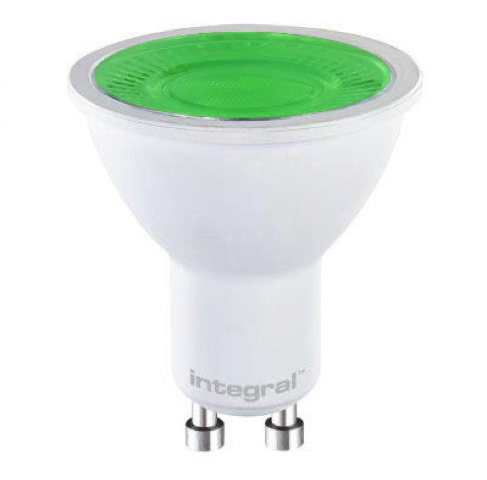 LED PAR16 5W GU10 Green 240V INTEGRAL