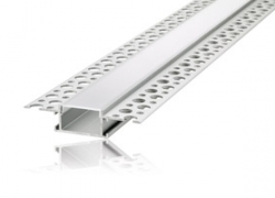 LED Plaster In Profile 2M Frosted 20mm