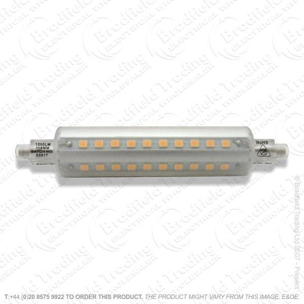 A48) LED 118mm R7s 9.5W 27k 1200lm WW INTEG