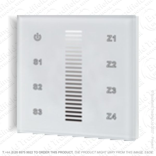 RF Touch Wall Single Control Dimmer 4Zone