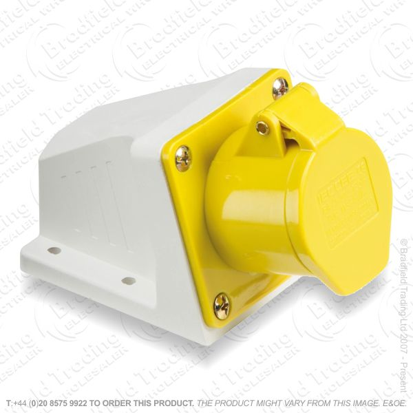 F06) Wall Socket Angle Surface 16A 110V Yello