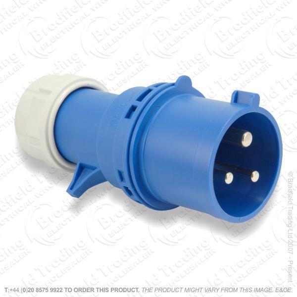 P240-32 Splash Proof Plug 32A 240v Blue