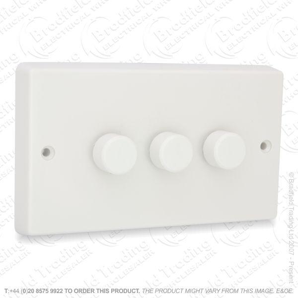 I26) Dimmer Push LV WK 3G 300VA whiteVAR