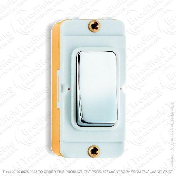 I45) Grid Switch Bright Chrome WI 2w 20A