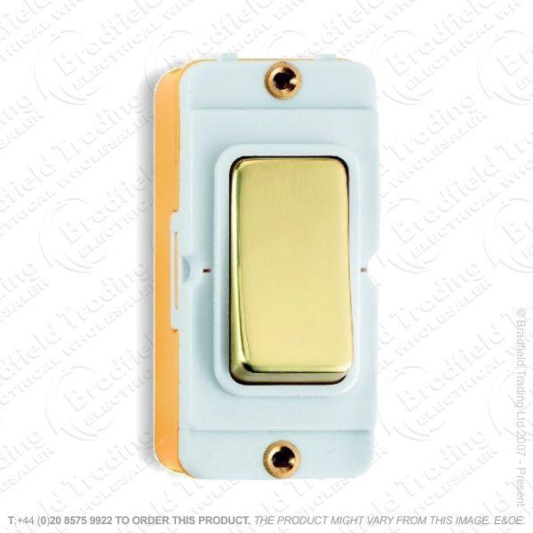 I45) Grid Switch Polished Brass WI 2w 20A