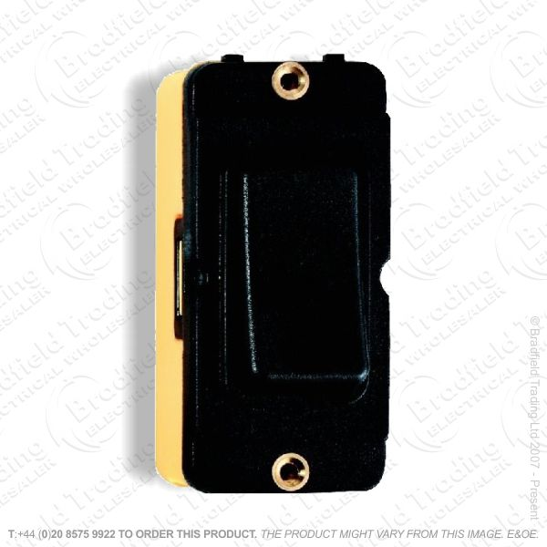 Grid Switch Black 2w 10A HAMILTON