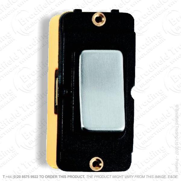 Grid Switch Bright Chrome 2w 10A BI