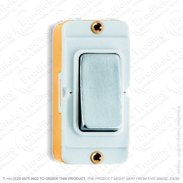 I45) Grid Switch Satin Chrome WI 2w 10A