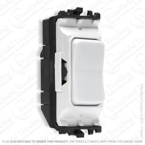 I45) Grid Switch White 2w 10A HAMILTON