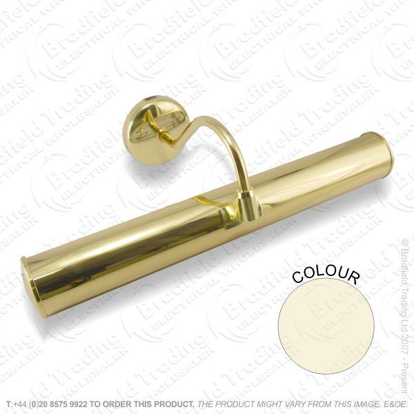 B12) Picture Light Striplight 221mm brass