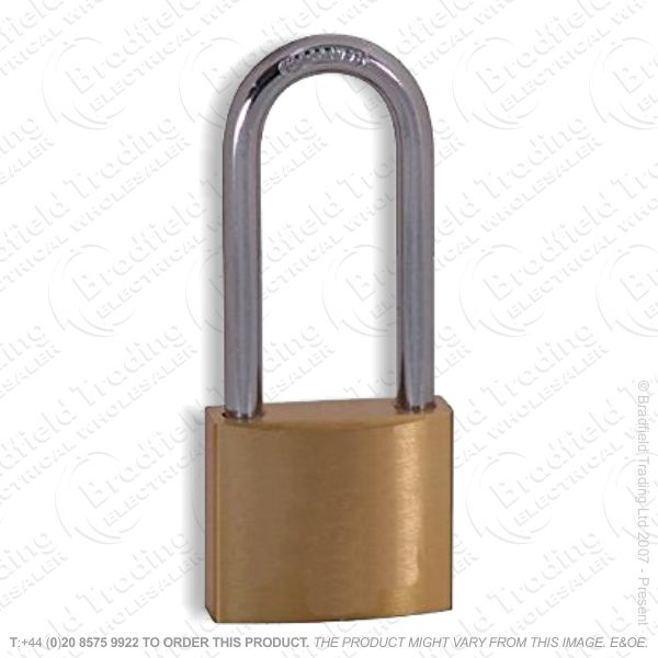 G57) Padlock 40mm x55 Long Brass Kasp