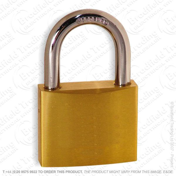 G57) Padlock 50mm Brass Kasp