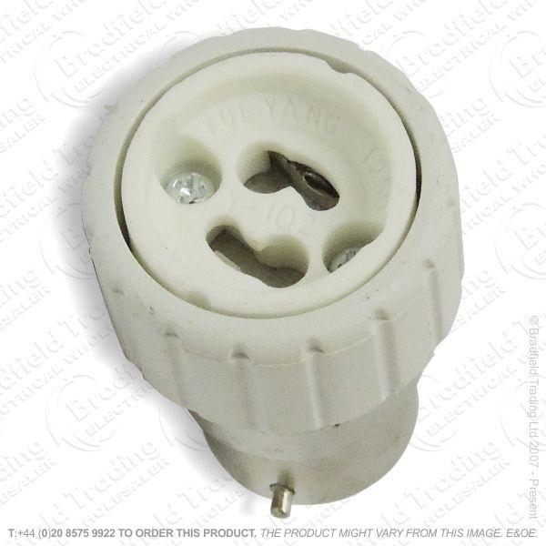 B05) Adaptor BC Plug to GU10 Socket