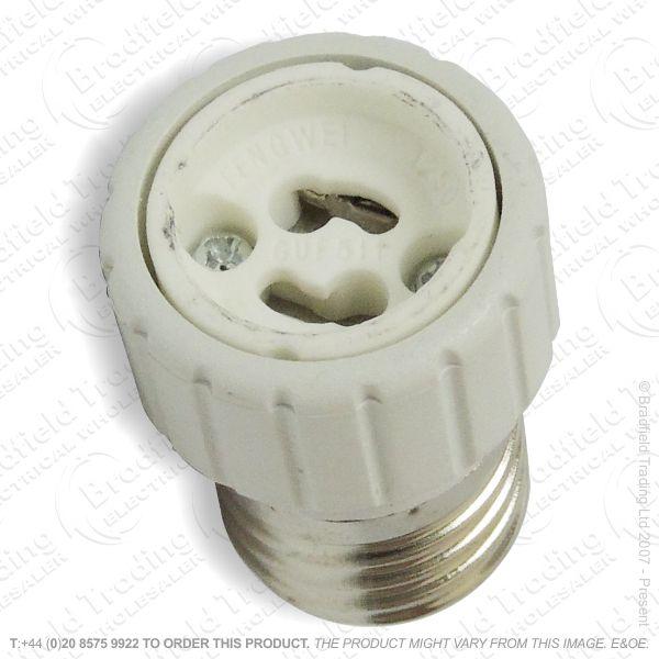 B05) Adaptor ES Plug GU10 Socket