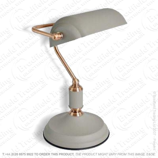 Desk Light Bankers Copper Grey LLO